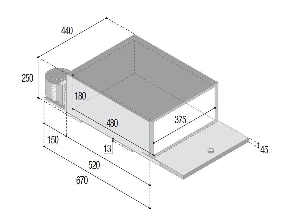 rozměry vitrifrigo brk35p