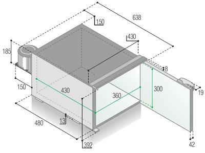 C47 vitrifrigo rozměry