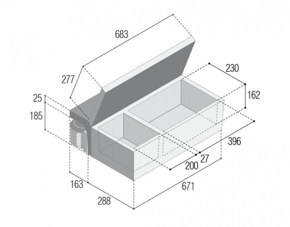 m25 vitrifrigo rozměry