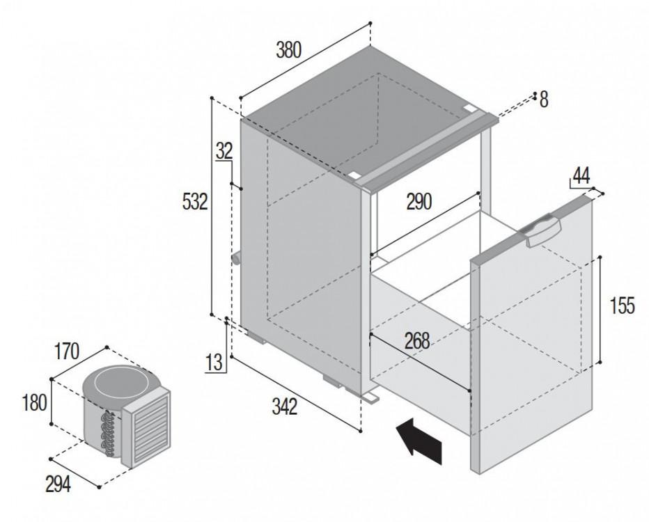 C42DW Vitrifrigo rozměry