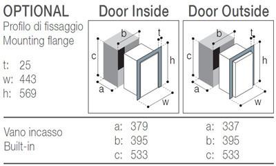 C42DW Vitrifrigo montážní rozměry