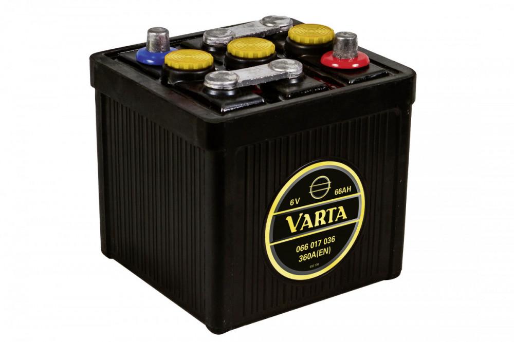 6V 66Ah 360A Varta Classic 066 017 036 G02 0, baterie pro veterány