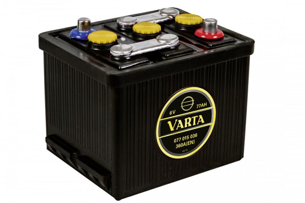 6V 77Ah 360A Varta Classic 077 015 036 G02 0, autobaterie pro veterány