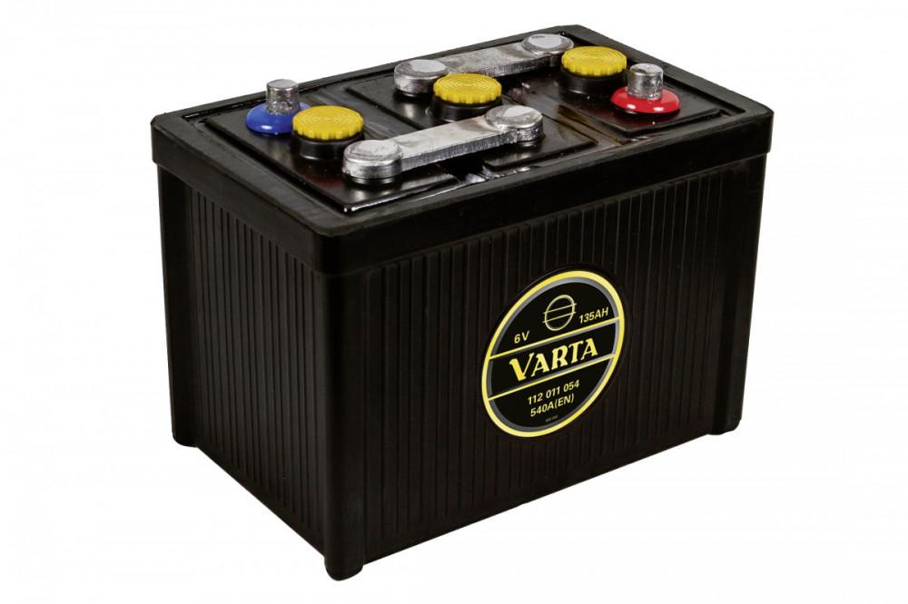 6V 135Ah 540A Varta Classic 112 011 054 G02 0, autobaterie pro veterány