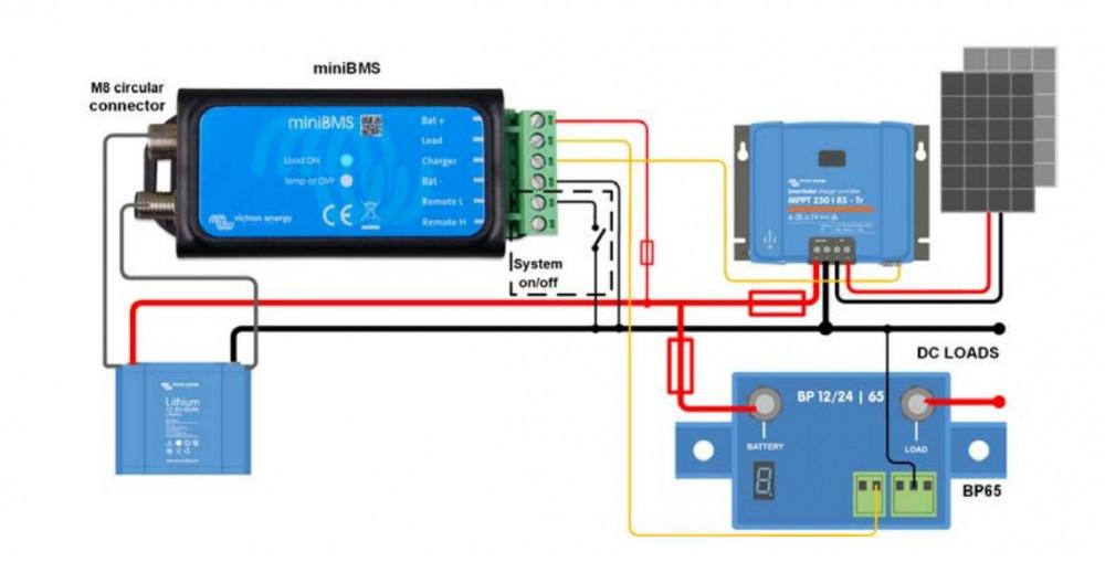 MiniBMS - BMS400100000 zapojení