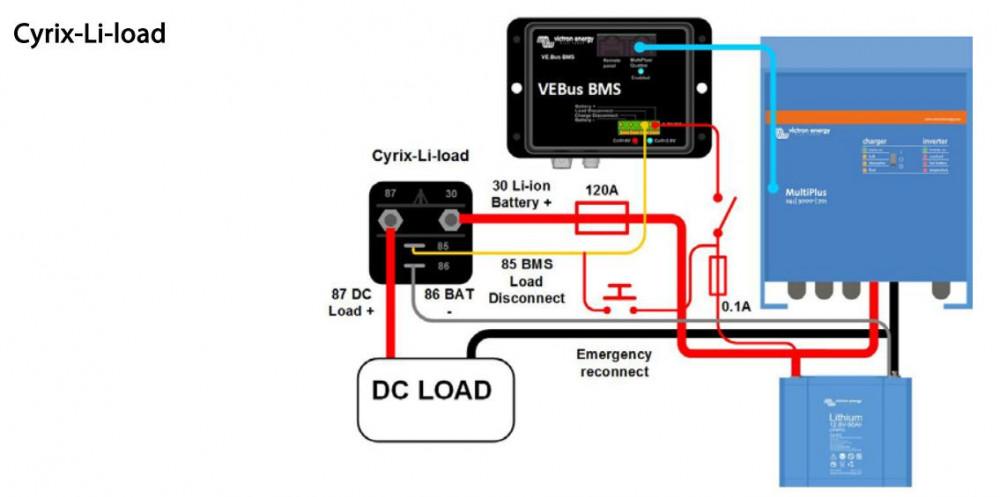 Cyrix-li-load 12/24V 120A, CYR010120450 zapojení