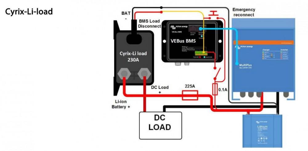 Cyrix-li-load 12/24V 230A, CYR010230450, zapojení