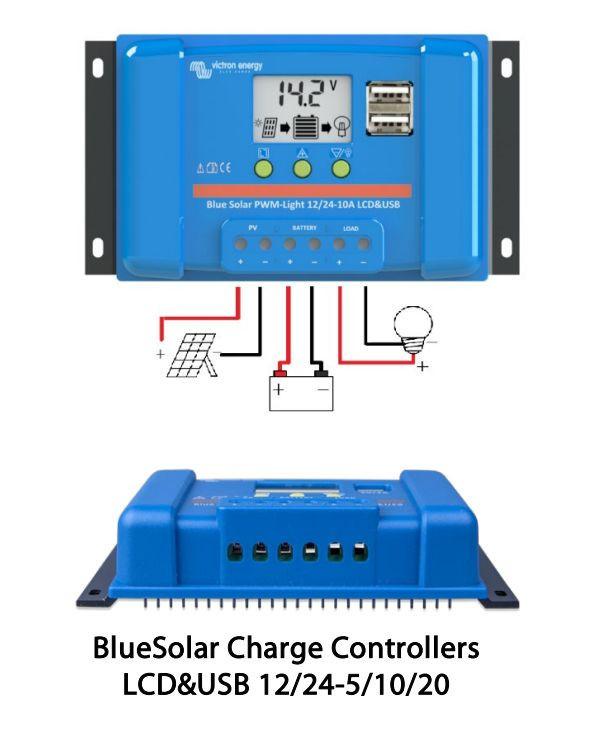 BlueSolar PWM LCD&USB