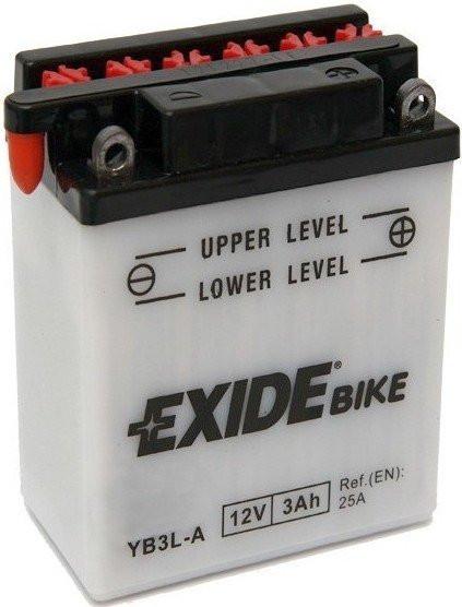 Motobaterie EXIDE EB3L-A 12V 3Ah 25A