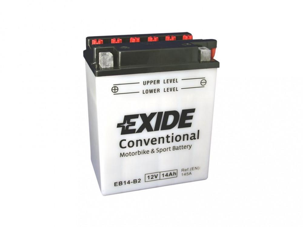 Motobaterie EXIDE EB14-B2 12V 14Ah 145A