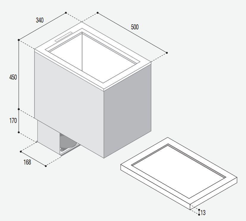 TL43 Vitrifrigo rozměry