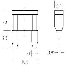 Pojistka nožová MINI 25A č.2