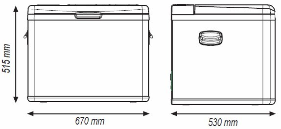 TB55A kompresorová autochladnička Indel B 12/24/230V 55 litrů č. 1