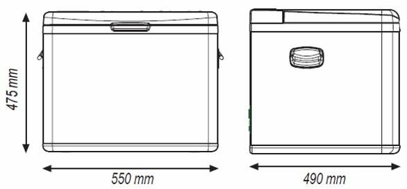 TB45A kompresorová autochladnička Indel B 12/24/230V 45 litrů č. 5
