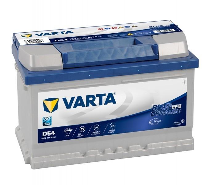 Autobaterie 565500 12V 65Ah Varta EFB START-STOP č. 1