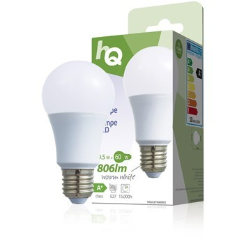 LED žárovka, A60, E27, 9,5 W, 806 lm, 2 700 K, HQLE27A60002 č. 3