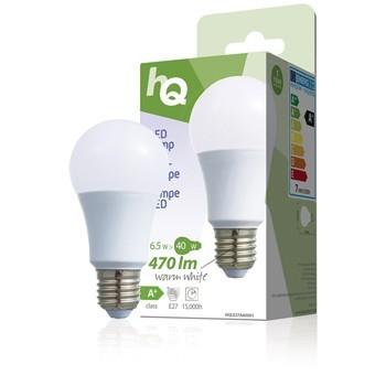 LED žárovka, A60, E27, 6,5 W, 470 lm, 2 700 K, HQLE27A60001 č. 1