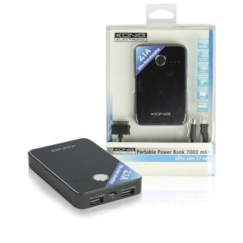 Přenosný USB Li-Ion akumulátor 5V 7000mAh Power Bank, KN-PBANK5000 č. 4